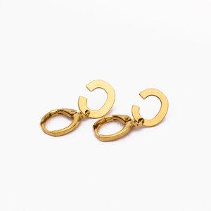 Argola Letra 1.2 cm Ouro (escolha a LETRA)
