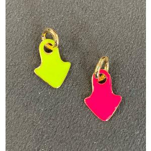 Pingente Seta Colors Esmaltado Neon Ouro18k (escolha a cor)