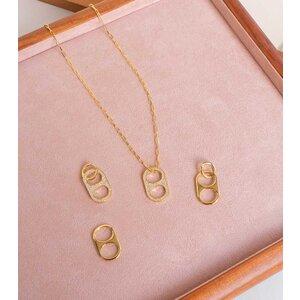 Colar Corrente Cartier com Pingente lacre SODACAP cravejado ouro