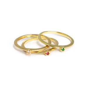 Anel solitario Ouro Delicado 0.3mm