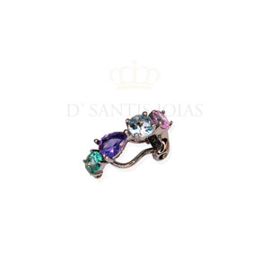 Piercing Colors Rodio Negro Prata925