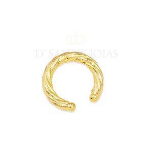 Ear hook encaixe tubo torcido Ouro (unitario)