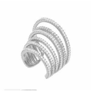 Piercing Fileiras Micro Cravejadas Prata925
