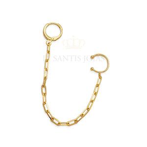 Argola fio cartier com piercing de pressao Ouro (unitario)