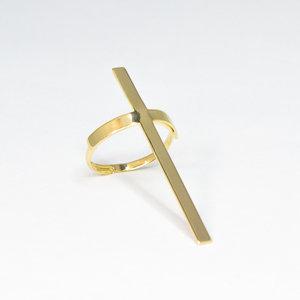 Anel de Cruz Ouro (REGULÁVEL)