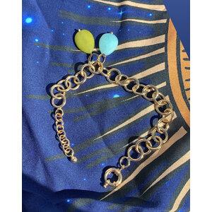 Pingente Gota Jade Azul Ouro