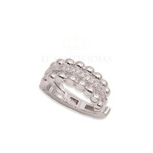 Piercing Fileira Bolinhas e Cravejado prata925