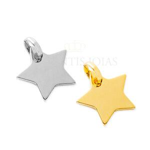 Pingente Estrela (escolha o banho)