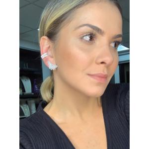 Ear Cuff Silvia Pequeno Pontos de Luz Prata925