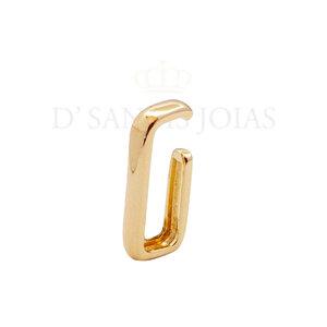 Brinco ear hook encaixe liso Ouro (unitario)