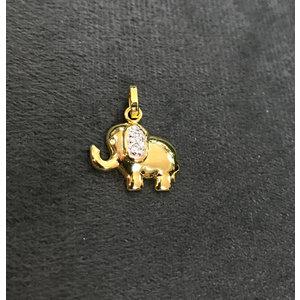 Pingente Elefante com Cravejado Ouro