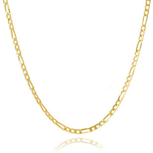 Corrente Figaro Ouro 60 cm