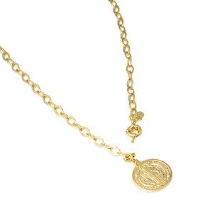 Colar Medalha São Bento Fecho Boia Ouro