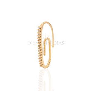 Brinco Clipe cravejado frontal Ouro (unitario)