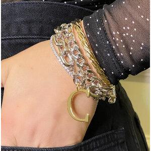 Bracelete Aro Torcido Ouro