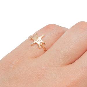 Anel Estrela Sheriff Ouro