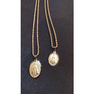 Corrente Malha Corda Italiana trançada ouro (Escolha o Tam)
