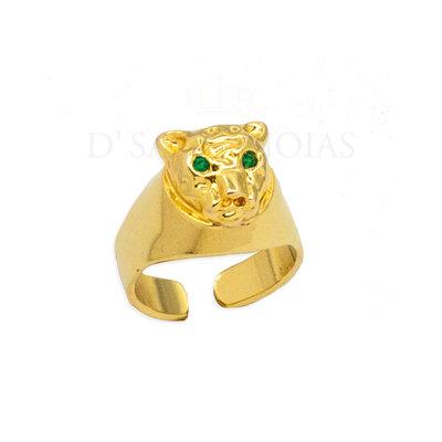 Anel Tigre Ajustavel Ouro18k