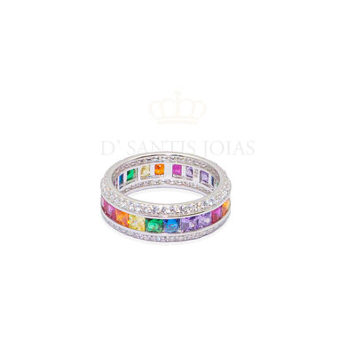 Anel Rainbow Prata925
