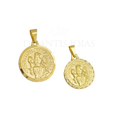 Pingente Medalha Sao Bento Ouro18k (escolha o tamanho)