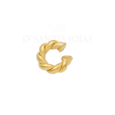 Piercing Trançado Fosco Aveludado Ouro