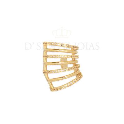Piercing Fileiras Lisas e Cravejadas Ouro18k