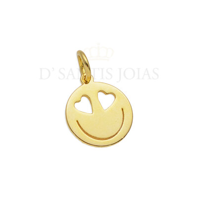 Pingente Smile Coraçoes Ouro18k