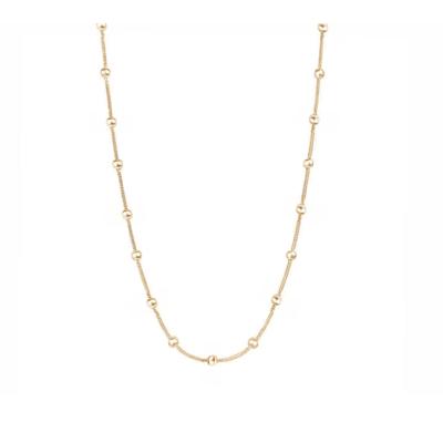 Colar corrente Bolinhas veneziana Ouro18k (escolha o tamanho)