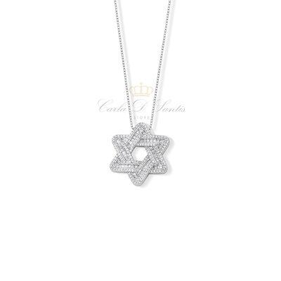 Colar Estrela de Davi Pequena Prata925