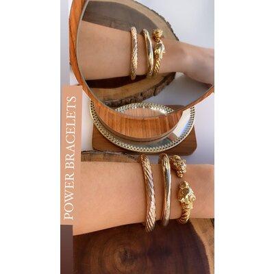 Bracelete Aro Torcido Medio Ouro