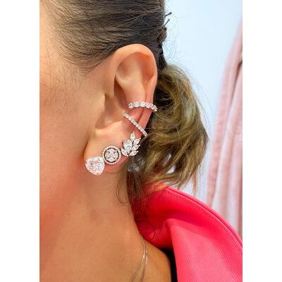 Brinco Ear Cuff gota com navetes Prata925