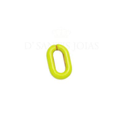 Pingente clip Esmaltado Amarelo Ouro
