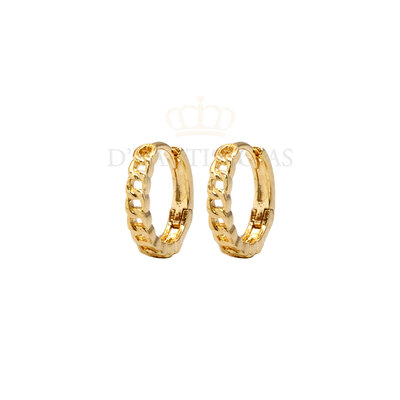 Argola Grumet Delicada Ouro18k (escolha o tamanho)