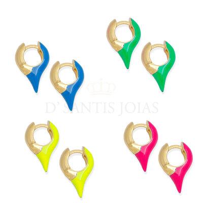 Argola Spike Colors ( escolha a cor )