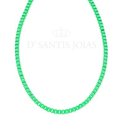 Colar Malha Grossa Colors Verde Neon