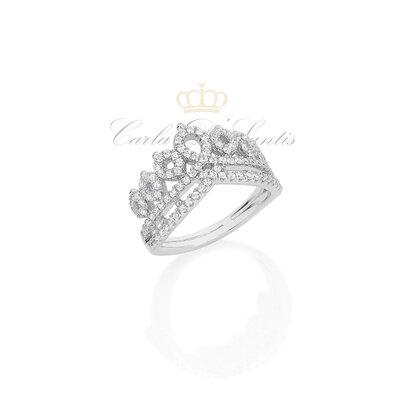 Anel Coroa Cravejado Prata925
