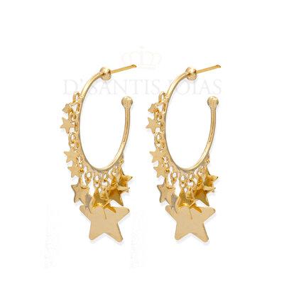 Argola Estrelas Ouro18k