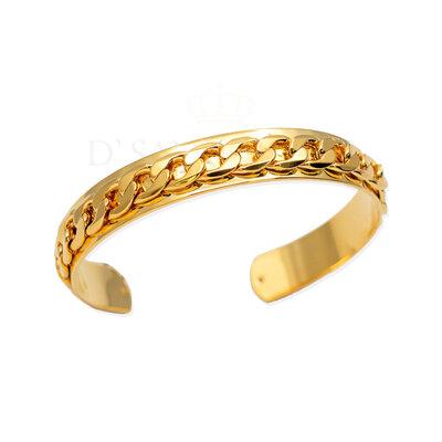 Bracelete com Corrente Grumet Ajustavel ouro 18k