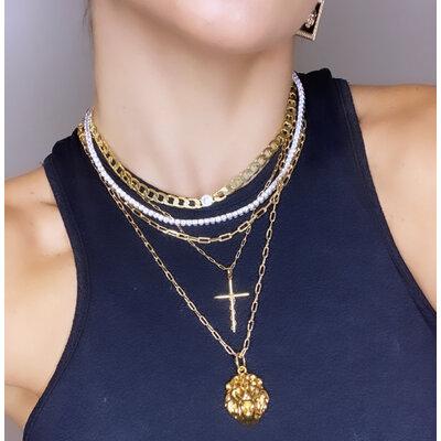 Pingente Crucifixo com Arame Ouro18k
