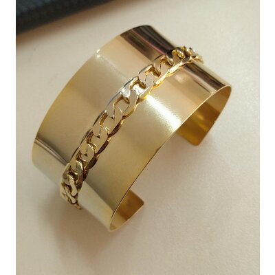 Bracelete Santi corrente grumet ouro18k