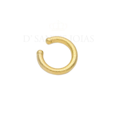 Piercing Tubo Fosco Aveludado Ouro18k