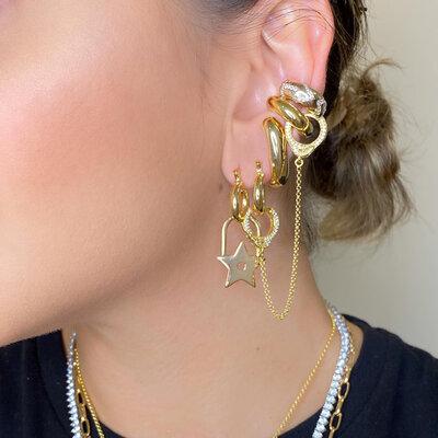 Brinco Ear hook Basico Ouro