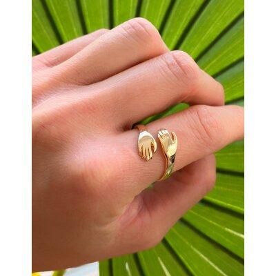 Anel Mãos Ajustavel Ouro