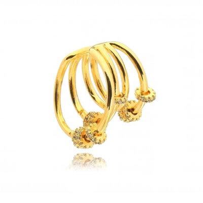 Piercing com Argolas Cravejadas Ouro18k