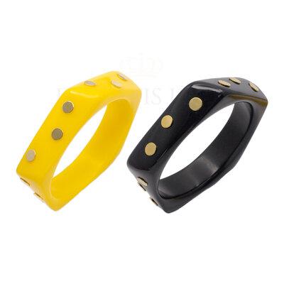 Bracelete Resina Cosmos Slim Ouro18k (escolha a cor)