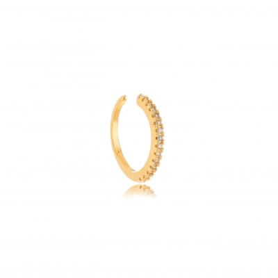 Piercing e Ear Hook Cravejado Ouro18k