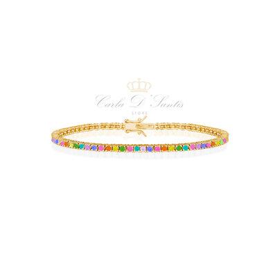 Pulseira Riviera Rainbow Prata925 Ouro18k