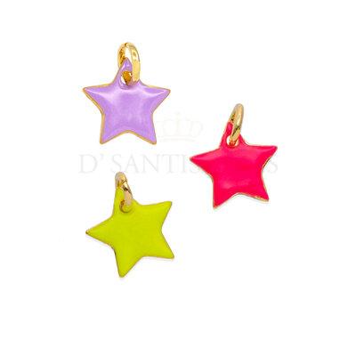 Pingente Estrela Colors Esmaltada Neon (escolha o banho)
