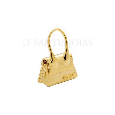 Pingente Bolsa Fashion Ouro18k