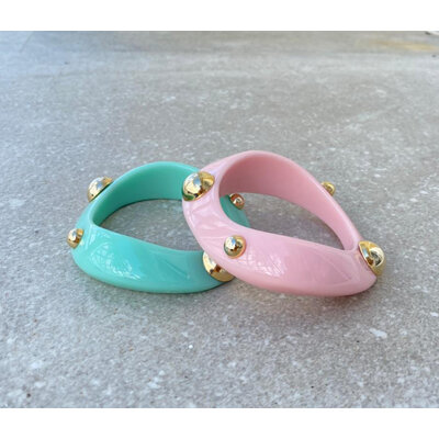 Bracelete Resina Cosmos Candy Ouro (escolha a cor)
